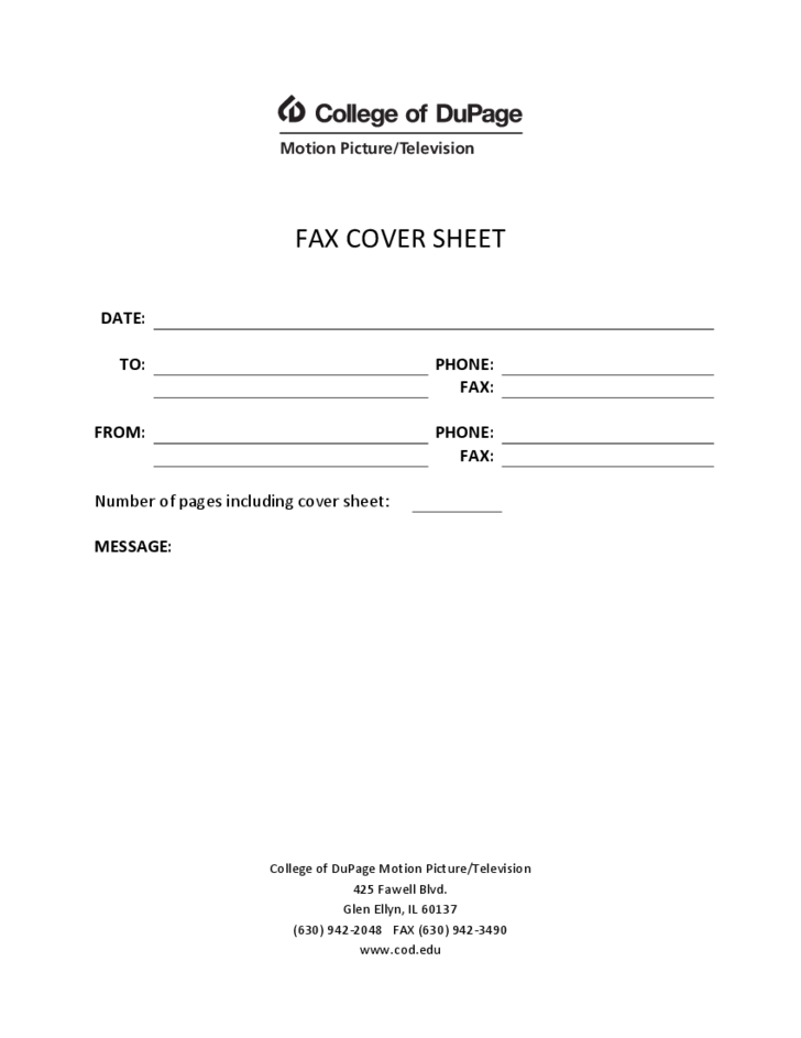 sample fax form