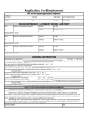 Application for Employment Form Sample Free Download