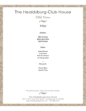 Bbq Menu Sample Free Download