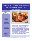 Standard Cooking Instructions for Canadian Beef Cuts Free Download