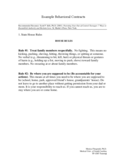 Behavior Contract Template - University of Washington Free Download