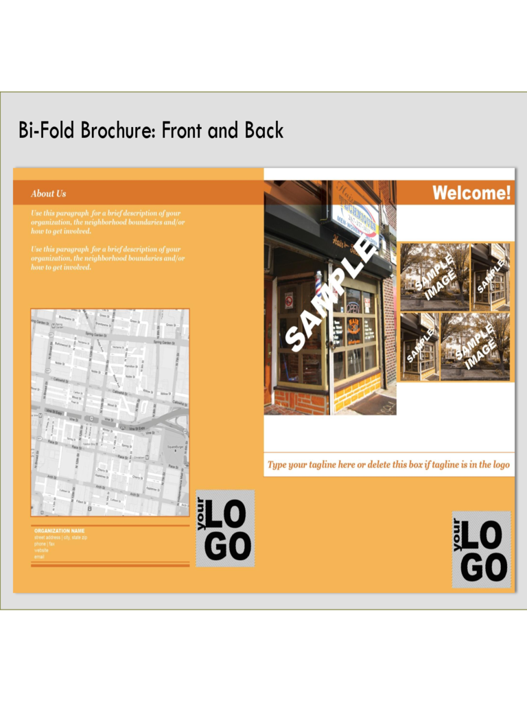 Bi fold brochure template 2 free templates in pdf word for Free bi fold brochure template 2
