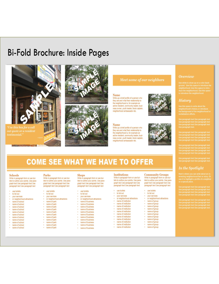 Bi fold brochure front and back free download for Free bi fold brochure template 2