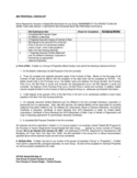 Bid Proposal Checklist - New York City Free Download