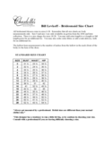 Bill Levkoff - Bridesmaid Size Chart Free Download