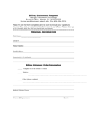 Billing Statement Request - Georgia Institute of Technology Free Download
