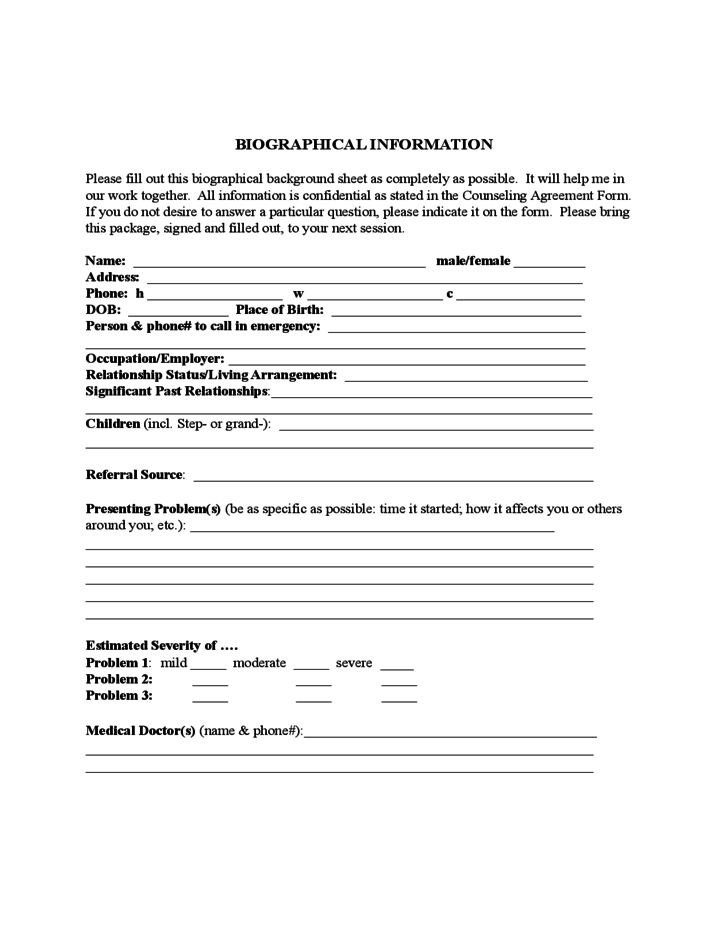 biodata form for consultant free download