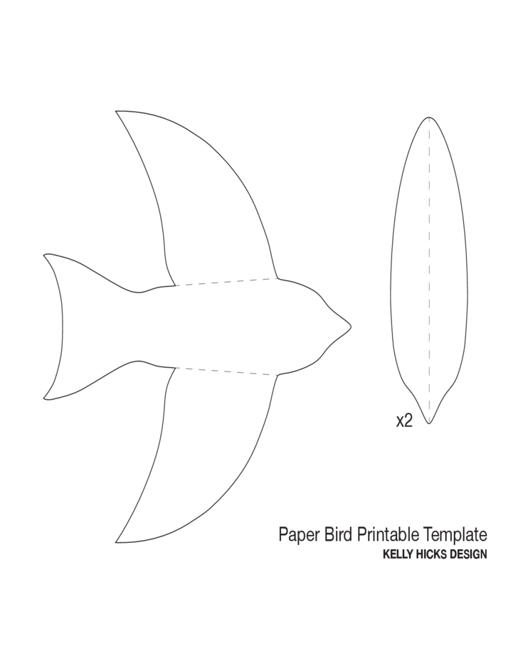 paper bird template free download