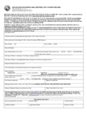 Application for Search and Certified Copy of Birth Record - Indiana