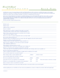 One Page Birth Plan Template Free Download