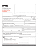 Birth Certificate Application - NYC Free Download