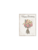 Birthday Card Template - Delicate Bouquet Free Download