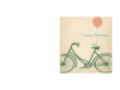 Birthday Card Template - Birthday Bicycle
