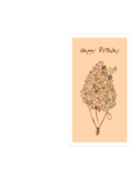 Birthday Card Template - Happy Birthday Bouquet Free Download