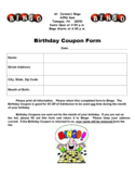 Birthday Coupon Form Free Download