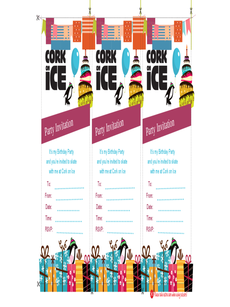 Party Invitation by Cook On Ice