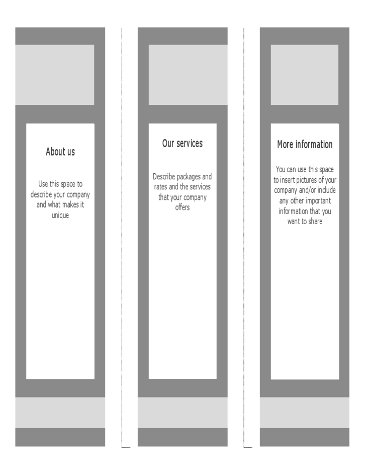 Blank Brouchre Template - Trifold