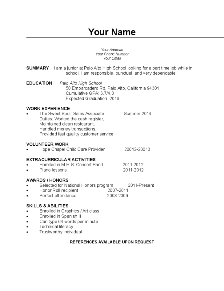 simple blank cv template free download