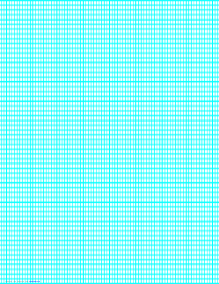 16 Lines per Inch Graph Paper on Legal-Sized Paper (Heavy)