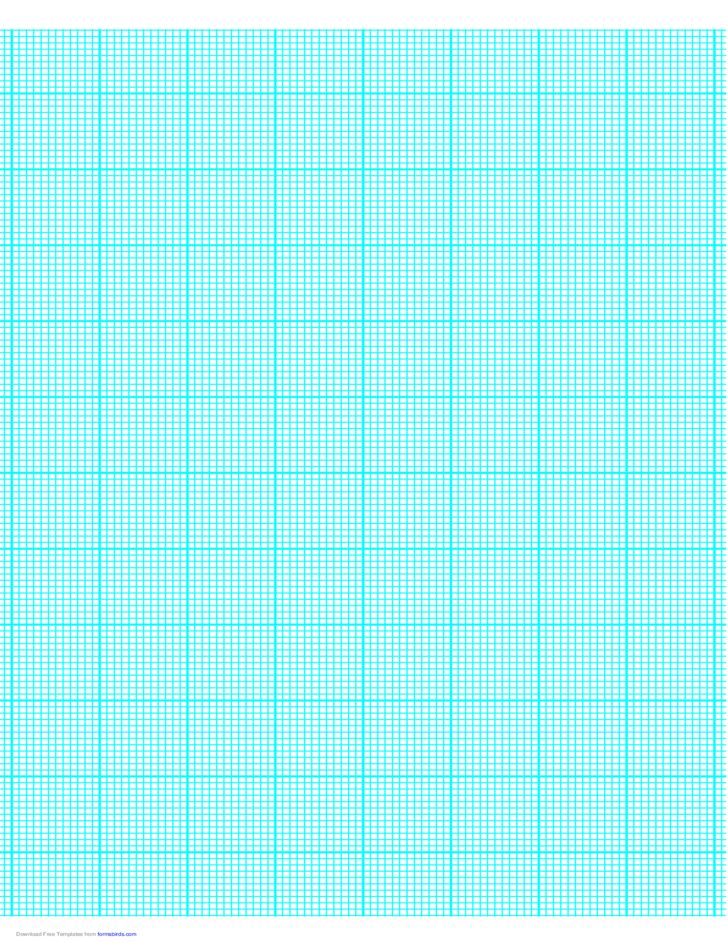 12 Lines per Inch Graph Paper on A4-Sized Paper (Heavy)