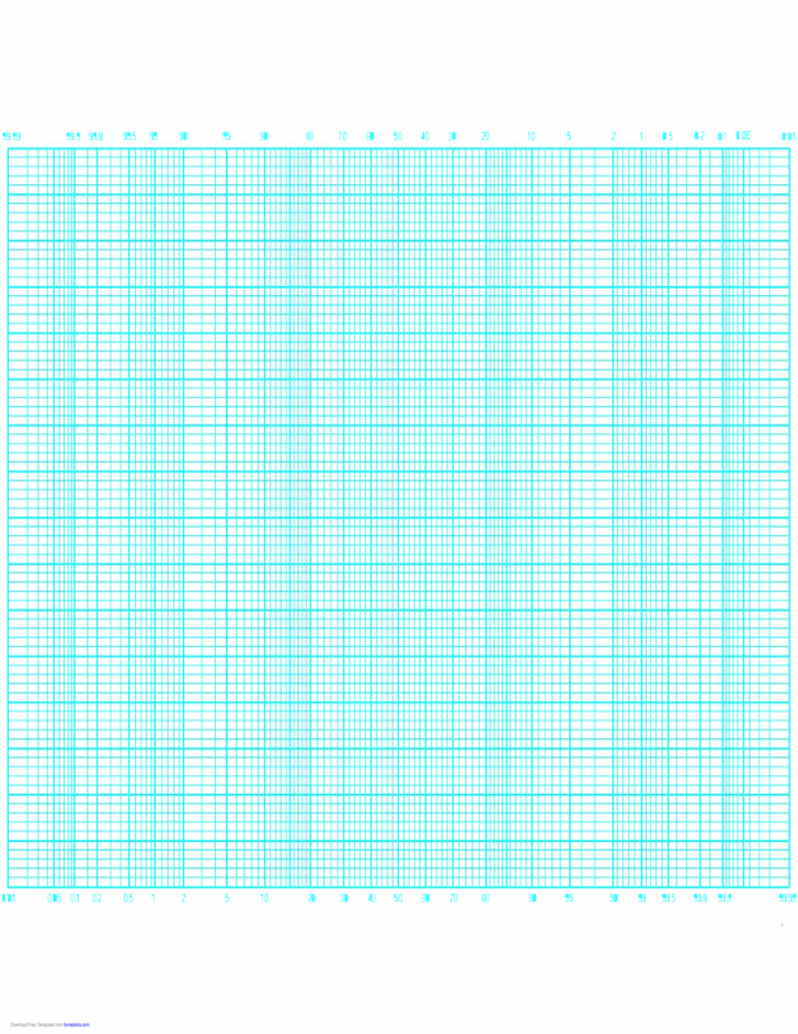 Probability Graph Paper by 80 Divisions (Long Axis)