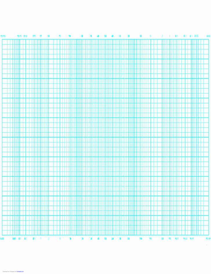 Probability Graph Paper by 40 Divisions (Long Axis)