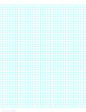 4 Lines per Inch Graph Paper on Letter-Sized Paper