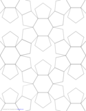 Tiled Pentagons and Hexagons Graph Paper