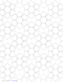 Small Tiled Pentagons and Hexagons Graph Paper
