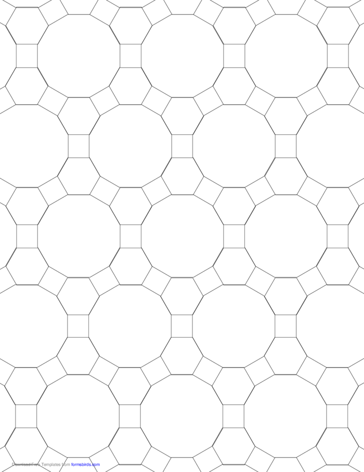 Small Tessellation Graph Paper (4.6.12)