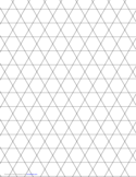 Small Tessellation Graph Paper (3.6.3.6)