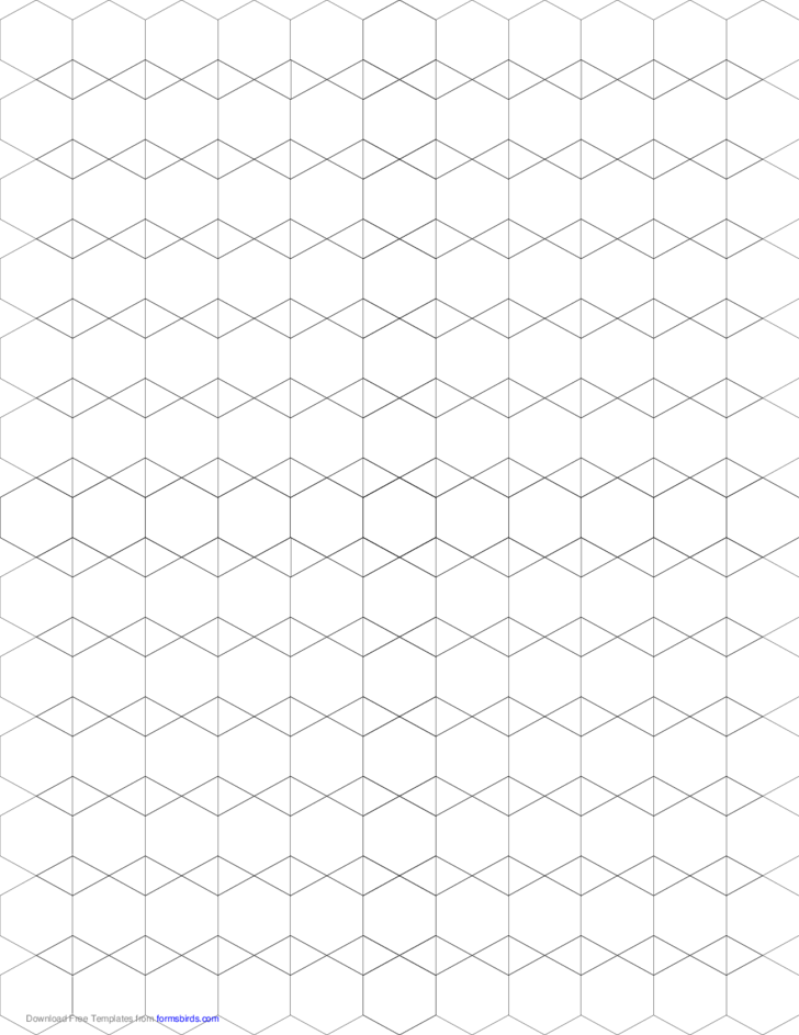 Small Tessellation Graph Paper (3.6.3.6,3.3.6.6)