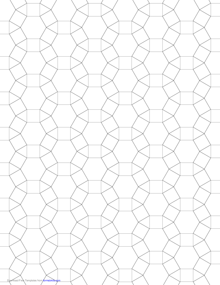 1 Small Tessellation Graph Paper (3.4.6.4)