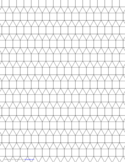 Small Tessellation Graph Paper (3.3.3.4.4)