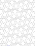 Small Tessellation Graph Paper (3.3.3.3.6)