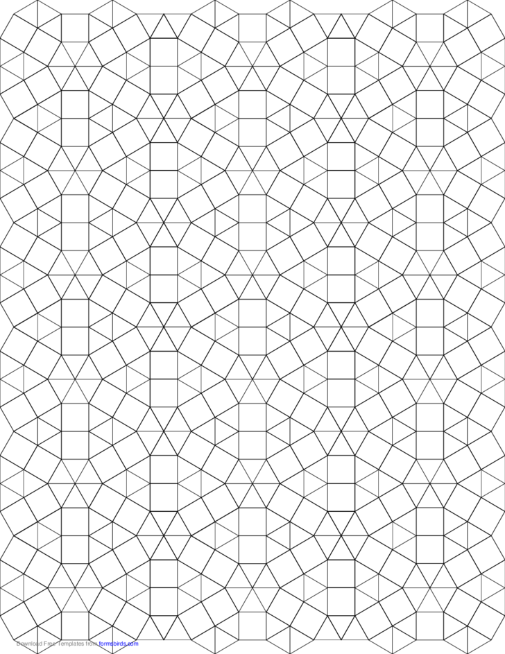 Small Tessellation Graph Paper (3.3.3.3.3.3,3.3.4.3.4)