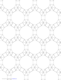 Small Tessellation Graph Paper (3.3.3.3.3,3.3.4.12)