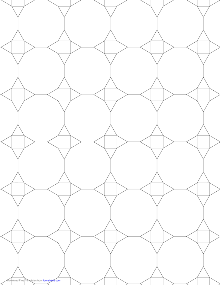 Small Tessellation Graph Paper (3.12.12,3.4.3.12)