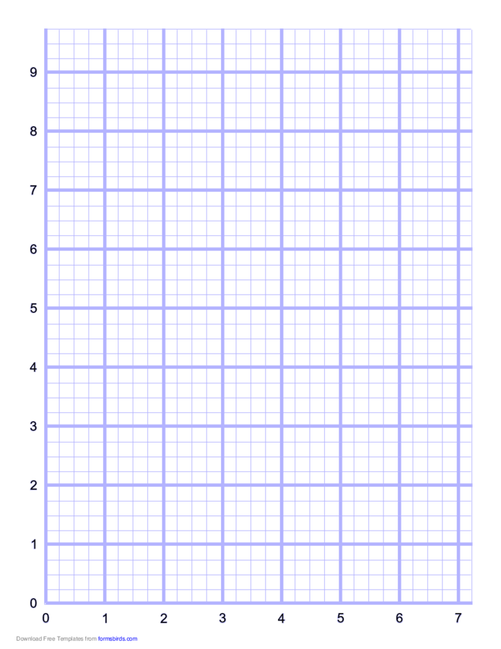 4 Index Lines per Inch Numbered Grid Paper