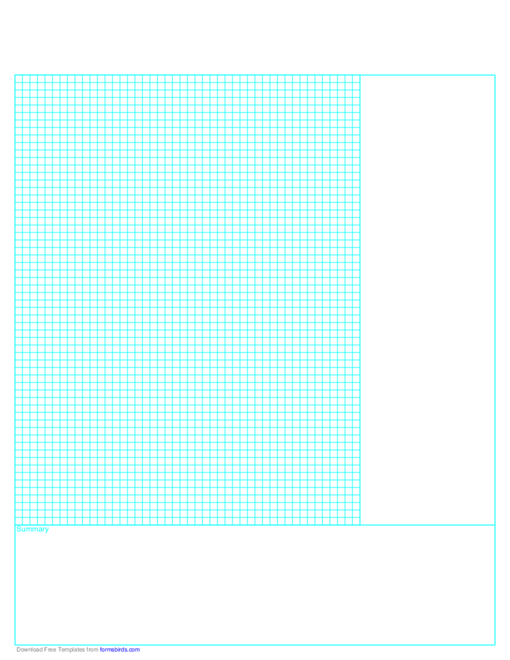 Cornell Note Paper with Grid (Reversed)
