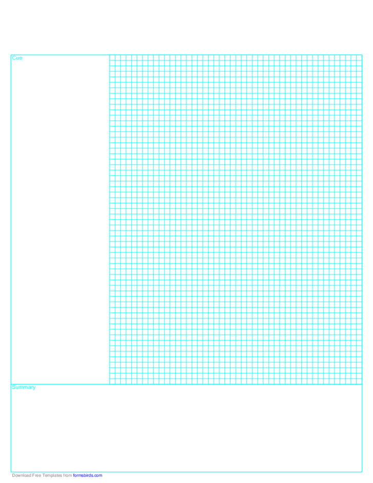 Cornell Note Paper with Grid