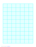 Basic 1 Line Every 2 mm Graph Paper on Letter-Sized Paper (Heavy Every 5th Line)