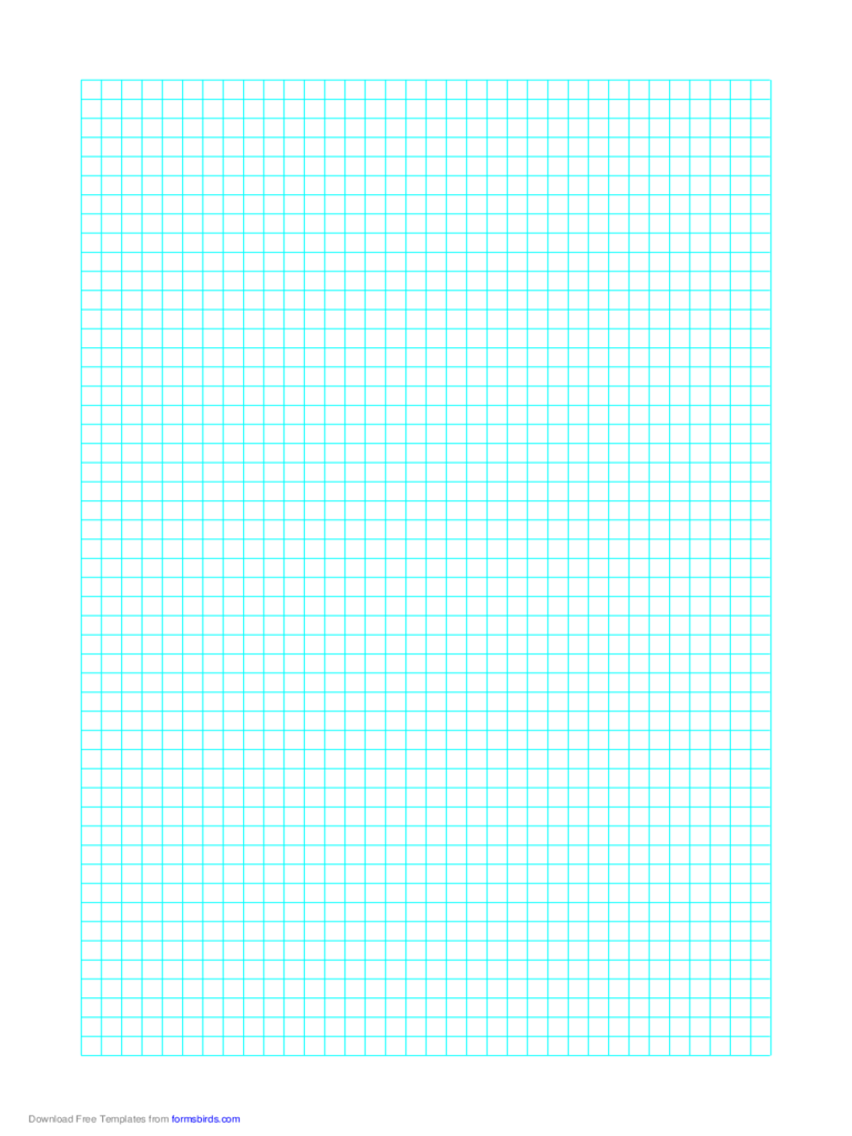1 Line Every 5 mm Graph Paper on Letter-Sized Paper