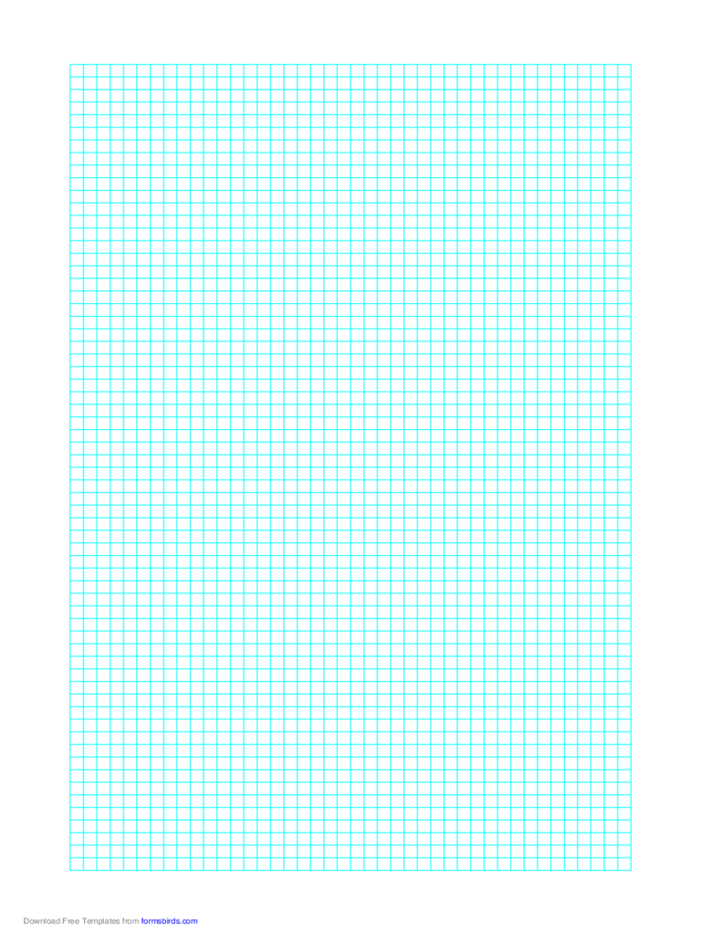 1 Line Every 4 mm Graph Paper on Letter-Sized Paper