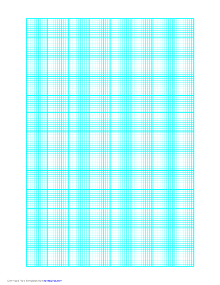 Graph Paper on Letter-Sized Paper (Heavy Every 10th Line)