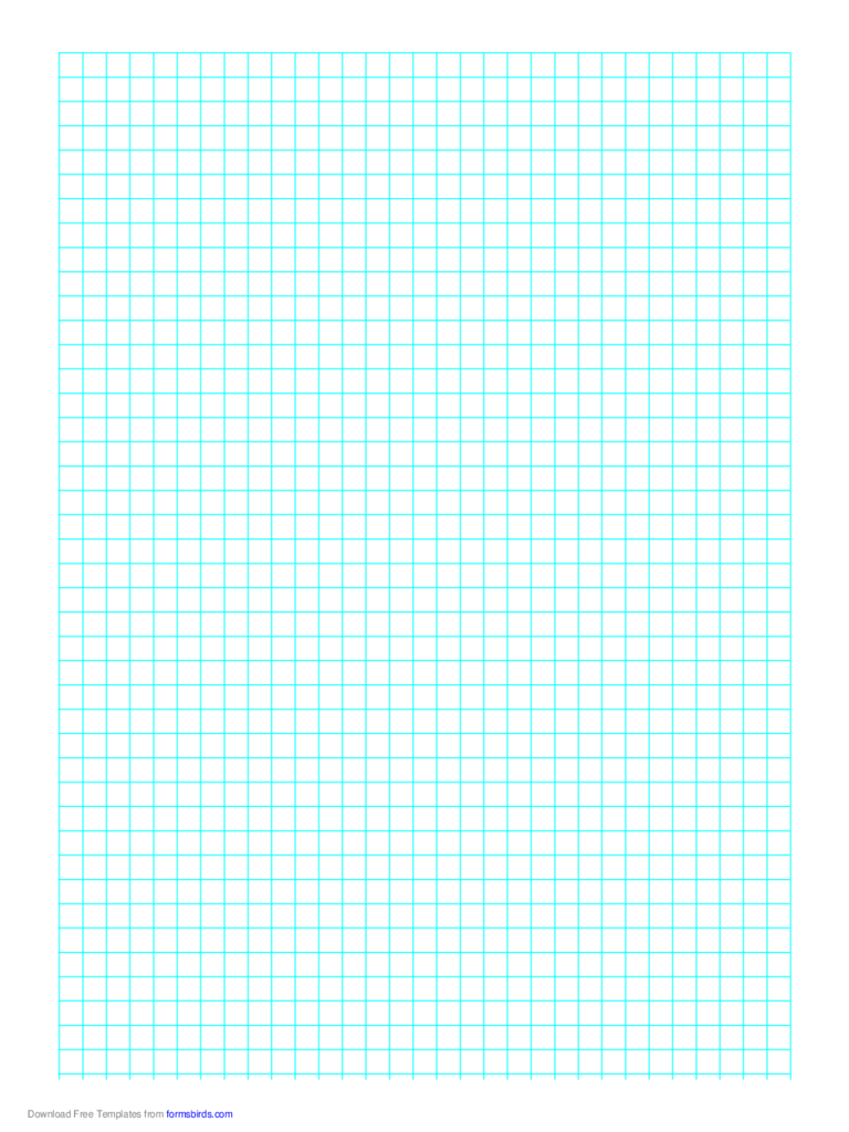 1 Line Every 6 mm Graph Paper on A4 Paper