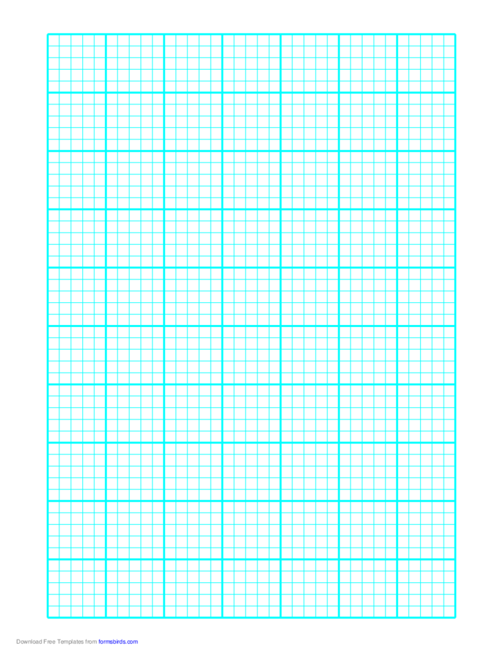 Graph Paper on A4 Paper (Heavy Every Fifth Line)