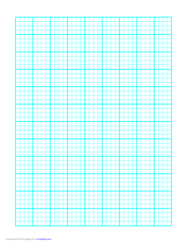 1 Line Every 5 mm Graph Paper on A4 Paper (Heavy Every Fourth Line)