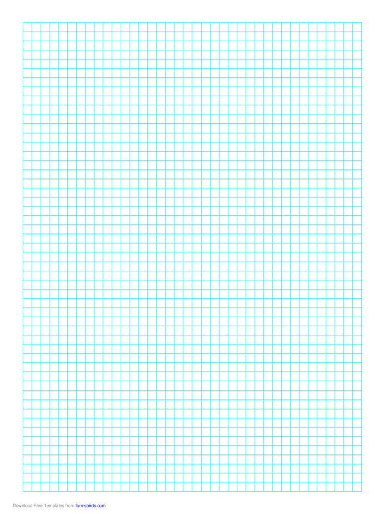 1 Line Every 5 mm Graph Paper on A4 Paper