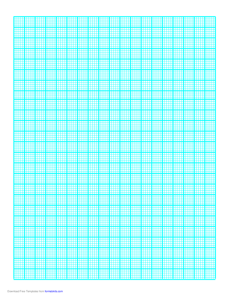 Graph Paper on A4 Paper (Heavy Every 5th Line)